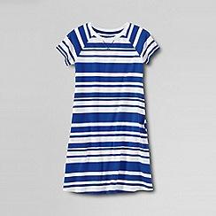 Lands' End - Blue little girls' short sleeve knit pull over dress