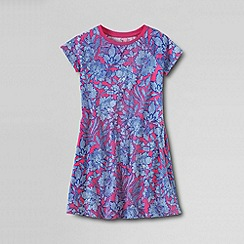 Lands' End - Multi girls' short sleeve knit pull over dress