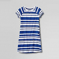 Lands' End - Blue girls' short sleeve knit pull over dress