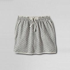 Lands' End - Grey little girls' woven trim pattern knit skort
