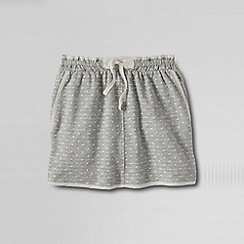 Lands' End - Grey girls' woven trim pattern knit skort