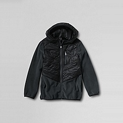 Lands' End - Black boys' fleece hybrid jacket