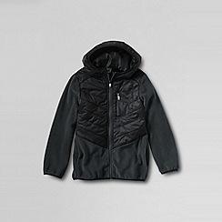 Lands' End - Black boys' fleece hybrid jacket