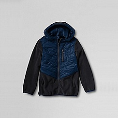 Lands' End - Blue boys' fleece hybrid jacket