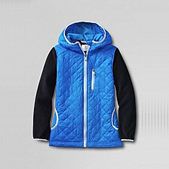 Lands' End - Blue girls' fleece hybrid jacket
