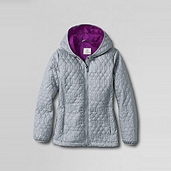 Lands' End - Grey little girls' lightweight jacket