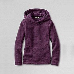 Lands' End - Purple girls' fleece hoodie