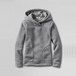 Lands' End - Grey girls' fleece hoodie
