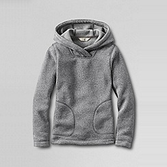 Lands' End - Grey little girls' fleece hoodie