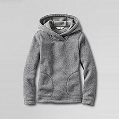 Lands' End - Grey little girls' fleece hoodie