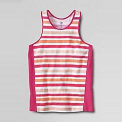 Lands' End - Pink little girls' colour block pieced racerback tank top