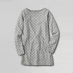 Lands' End - Grey little girls' long sleeve knit legging tee