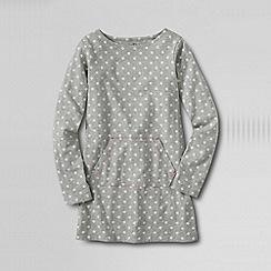 Lands' End - Grey girls' long sleeve knit legging tee