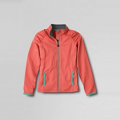 Lands' End - Orange little girls' performance zip front jacket