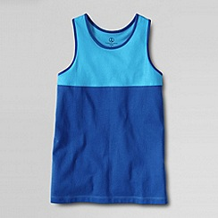 Lands' End - Blue girls' pieced racerback tank top