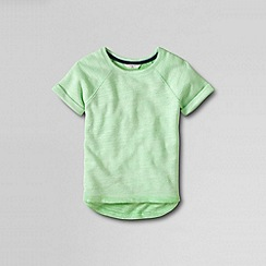 Lands' End - Green little girls' heathered french terry sweatshirt