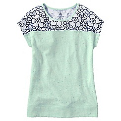 Lands' End - Multi girls' lace detail flecked tee