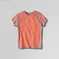 Lands' End - Orange little girls' short sleeve performance tee