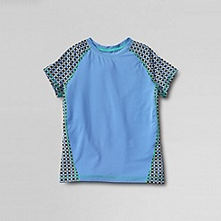 Lands' End - Blue little girls' short sleeve performance tee