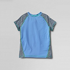 Lands' End - Blue girls' short sleeve performance tee