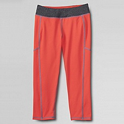 Lands' End - Orange girls' performance crop leggings