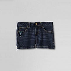 Lands' End - Blue little girls' denim shorts
