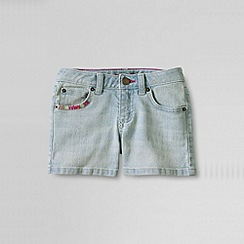 Lands' End - Blue girls' denim shorts
