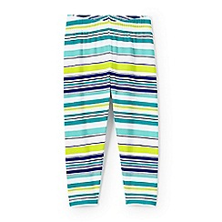 Lands' End - Girls' multicoloured knit pattern cropped leggings
