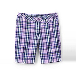Lands' End - Purple girls' plaid bermuda short