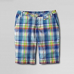 Lands' End - Multi girls' plaid bermuda short