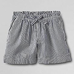 Lands' End - Blue pull-on seersucker shorts