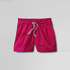 Lands' End - Pink girls patterned pull on woven shorts