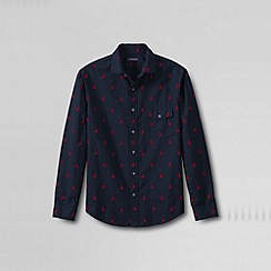 Lands' End - Blue men's heritage dobby shirt