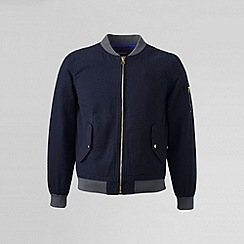 Lands' End - Blue men's seersucker bomber jacket