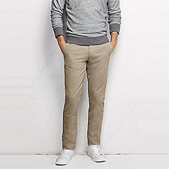 Lands' End - Beige men's slim fit lighthouse chino trousers