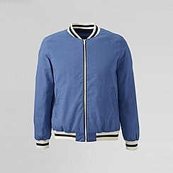 Lands' End - Blue men's oxford varsity jacket