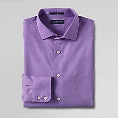 Lands' End - Purple men's traditional fit spread collar dress shirt