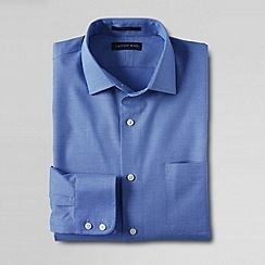 Lands' End - Blue men's traditional fit spread collar dress shirt