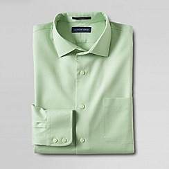 Lands' End - Green men's traditional fit spread collar dress shirt