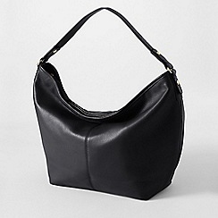 Lands' End - Black women's regatta leather hobo bag