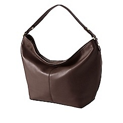 Lands' End - Brown regatta leather hobo bag