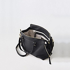 Lands' End - Black regatta leather bucket bag