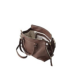 Lands' End - Brown regatta leather bucket bag