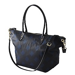 Lands' End - Black edgewater convertible east west tote