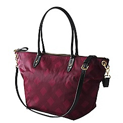Lands' End - Pink edgewater convertible east west tote