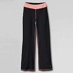 Lands' End - Black little girls' performance bootcut trousers