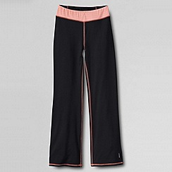 Lands' End - Black girls' performance bootcut trousers
