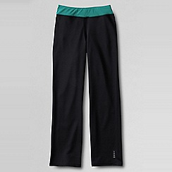 Lands' End - Black performance bootcut trousers