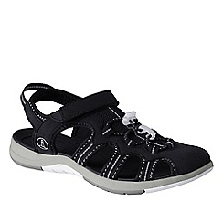 Lands' End - Black women's wide water sandals