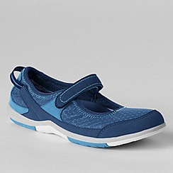 Lands' End - Blue women's wide water mary janes
